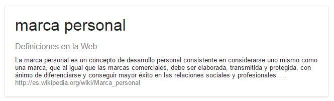 definicion marca personal